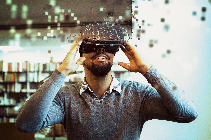 Man with VR headet